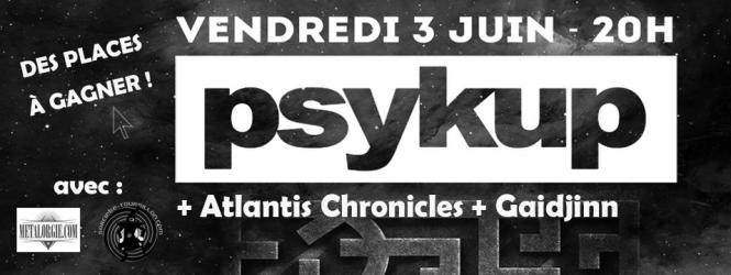 Des places à gagner pour le concert de Psykup !