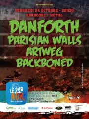 Danforth + Parisian Walls + Artweg + Backboned